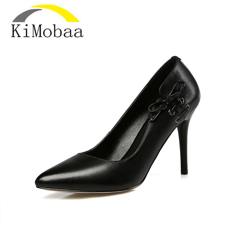 Здесь можно купить   Kimobaa Hot Sale Wedding Shoes Sexy Pointed Toe Shoes Woman Black Red Simple 9CM High Heel Black Red Size 34-39 in Stock TX57 Обувь
