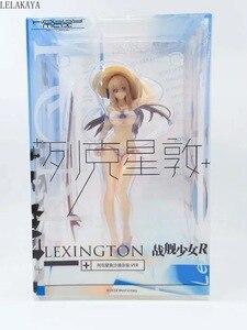 Image 5 - 22cm Cartoon Anime figurka okręt wojenny dziewczyny R Sexy Lexington plaża strój kąpielowy Ver Model z pcv dekoracji Bikini Doll Dropshipping