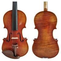 Free Shipping Copy Stradivarius 1716 100% Handmade FPVN04 Oil Varnish Violin + Carbon Fiber Bow Foam Case