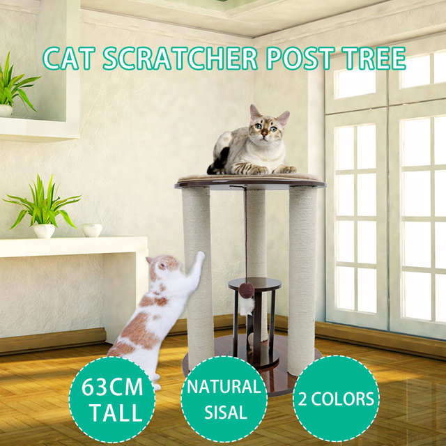 New Arrived Round Chair Luxury Sisal Scratching Cat Climbing Tree with Ball  With Removable Mat Cat Furniture Protector boxes