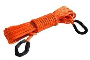 """Image 1 - Orange 3/8 """"* 50ft Synthetische Winde Seil Verlängerung, 10mm ATV Winde Kabel, Synthetische Seil, abschleppen Seil für Offroad Auto Teile"""
