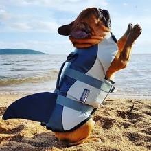Summer Pet Dog Life Jacket Clothes Shark Style Flotation Vest Small Medium Large Dogs Safety Swimming Suit Preserver