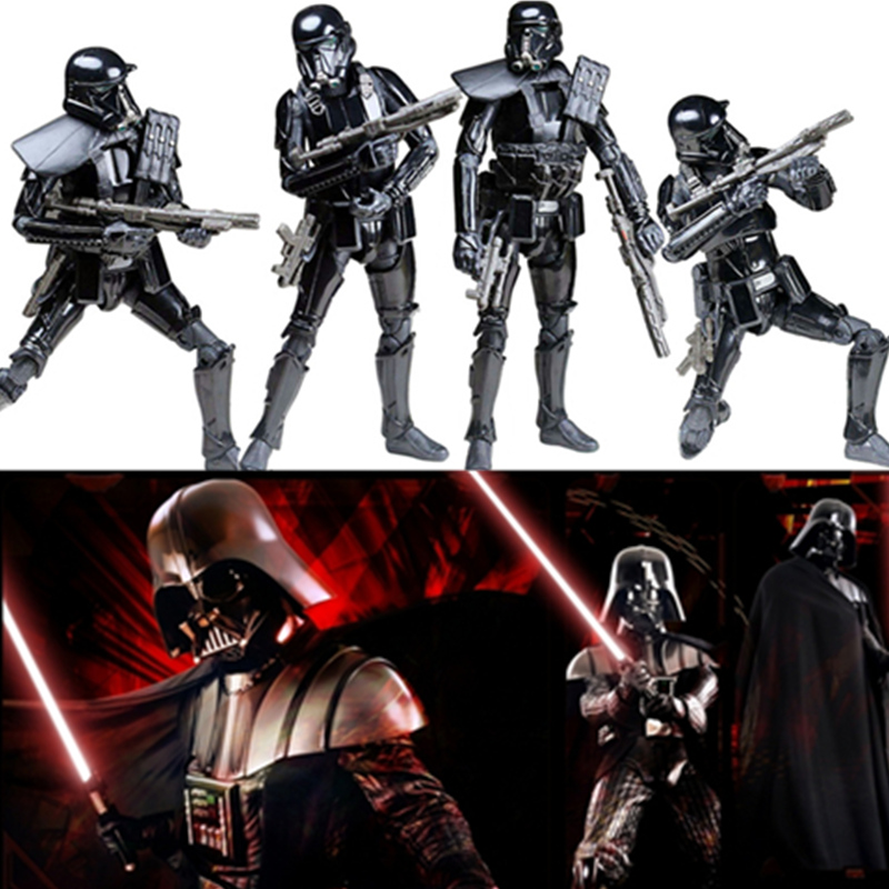 6 Inch Star Wars Rogue One Black Series Darth Vader Imperial Death Trooper Action Figure Model Stormtrooper Toys Children Gift ksz star wars minifig darth vader white storm trooper general grievous figure toys building blocks
