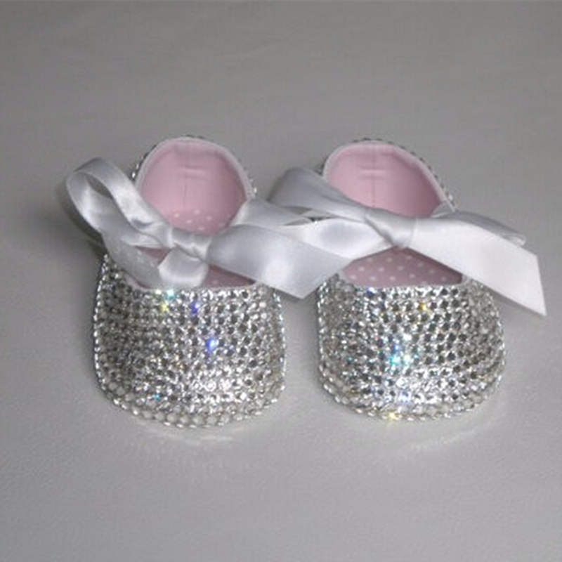 Aliexpress.com   Buy Custom Sparkle Bling pacifier out swal crystals  Rhinestones Baby shoes infant 0 1Y ribbon Princess satin bella Ballerina  shoes from ... 6178c7932b0e