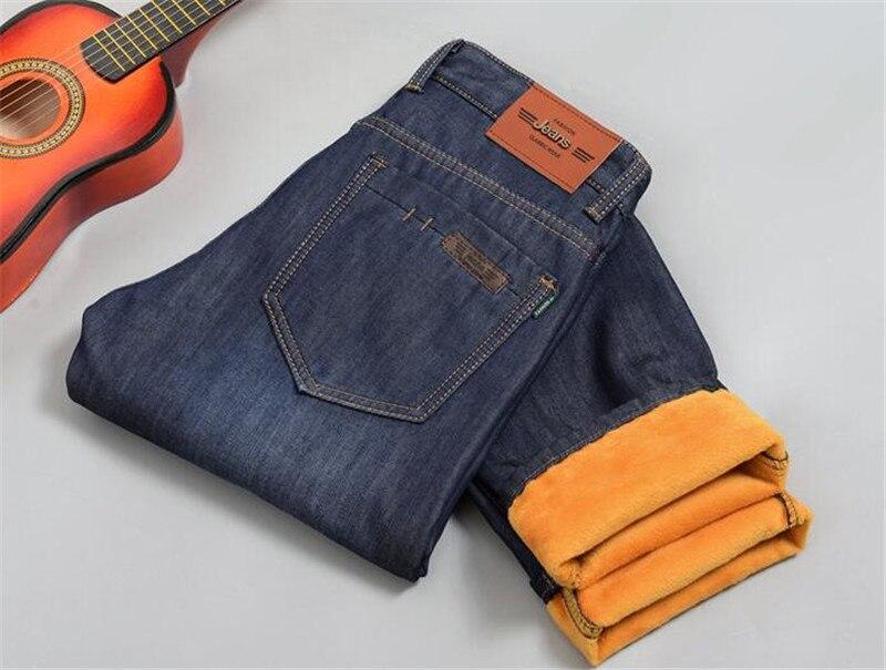 Brand New Mens Fleece Fodrade jeans, Mode Varm jeans Höst Vinter - Herrkläder - Foto 6