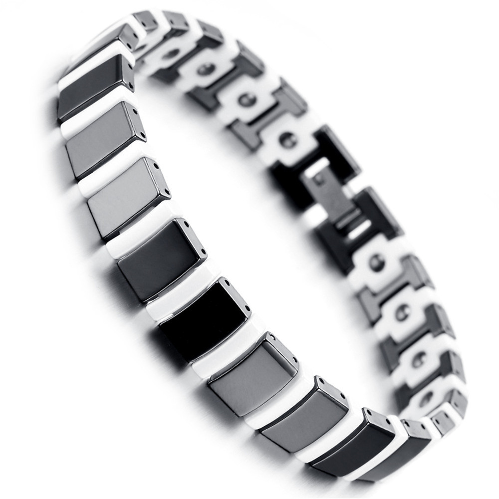 with p tungsten and quick mens magnets over fold high view links bracelet polished clasp