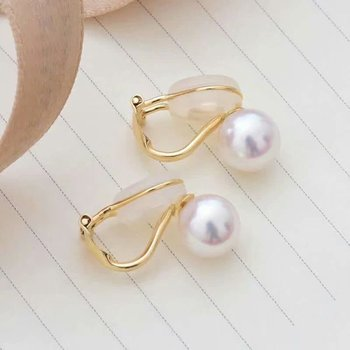 shilovem 18k yellow gold Natural  freshwater pearls stud Earrings fine Jewelry new round women trendy wedding  gift yz8.5-009zz 2