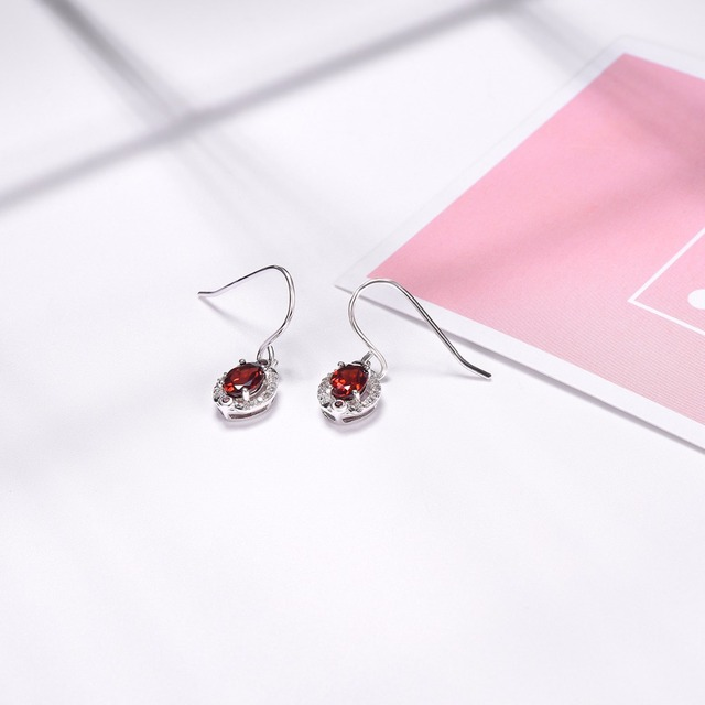 Hutang Stone Jewelry Natural Red Garnet and Similar Diamond Earrings Solid 925 Sterling Silver Fine Fashion.jpg 640x640 - Hutang Stone Jewelry Natural Red Garnet and Similar Diamond Earrings Solid 925 Sterling Silver Fine Fashion Gemstone Jewelry New