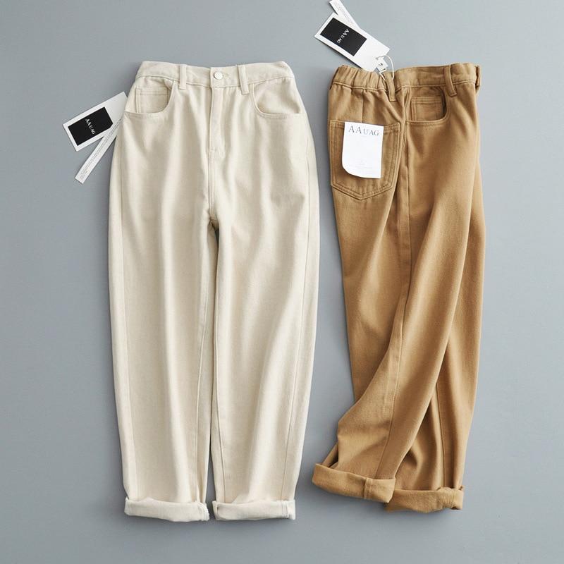 Fatika Thick Loose High Waist Pants 2019 Autumn Winter Female Pockets Solid Femme Long Wide Leg Pants For Women