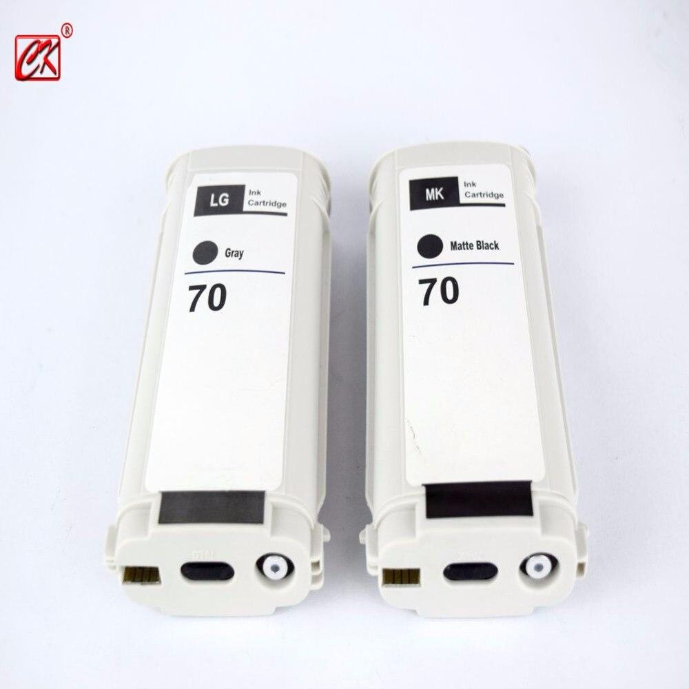 ФОТО 2pcs Gray + Matte black Compatible HP70 LG ink cartridge for hp 70  Z2100 Z3100 Z3200 Z5200 printer 130ML ink cartridge