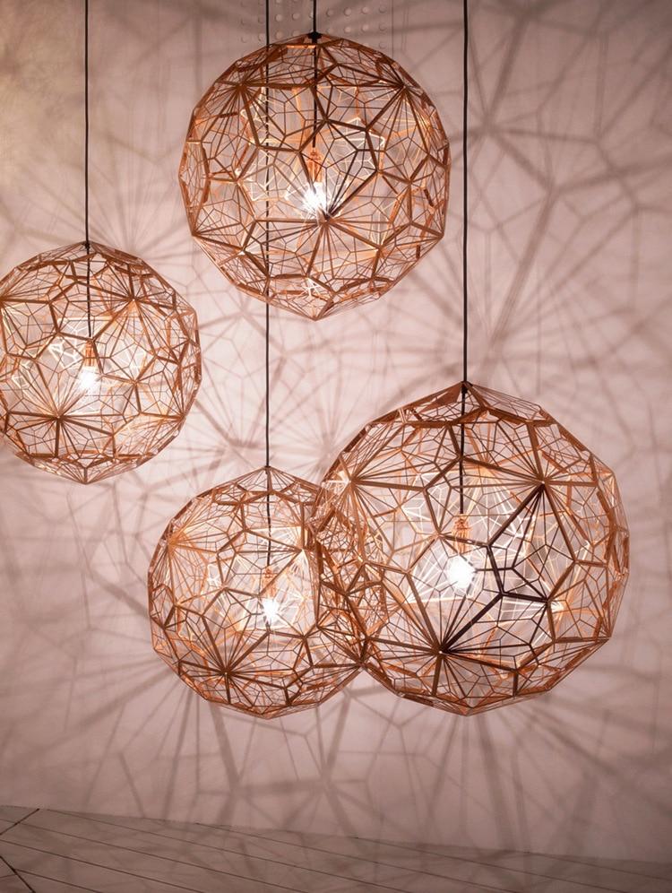 거실 연구 부엌에 대한 웹 에칭 현대 펜던트 라이트 섀도우 램프의 복제lamps for living roomfor lamplight replica -