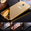 For Samsung Galaxy C7 C7000 Luxury Gold Plating Armor Aluminum Metal Frame + Mirror Acrylic Case Back Cover For Samsung C7 case