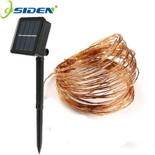 OSIDEN Solar Powered String Lights 10M 100LED Copper Wire Outdoor Fairy Light for Christmas Garden Home Holiday Decorations