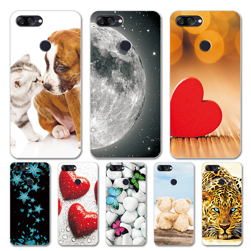 Case For Asus ZenFone Max Plus M1 ZB570TL Silicone Heart  Phone Cover For Asus Zenfone Max Plus M1 ZB570TL X018D Case Shell Capa