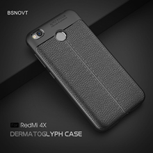 For Xiaomi Redmi 4X Case Soft Silicone Leather Anti-knock Phone Cover Funda BSNOVT