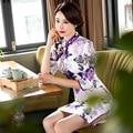 Fashion Vintage Evening Dress Half Sleeve Long Cheongsam Dress Chinese Traditional Dress Qipao Evening Dresses Gown