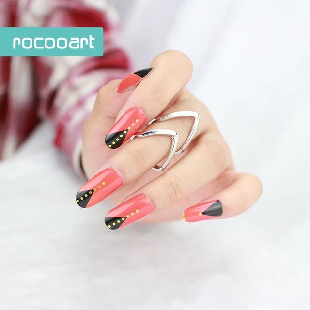 Yi 621/New 2017 Metallic Black Red With Dot Nail Wraps Nail Art ...