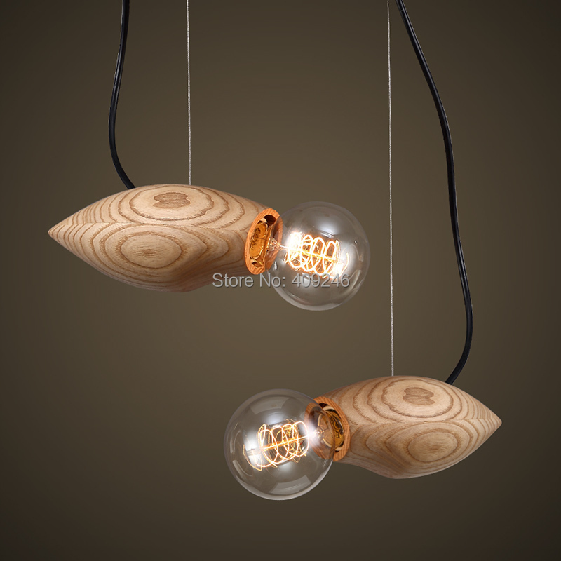 Vintage Solid Wood Ball Ceiling Lamp Penant Droplight For Dinning Room Cafe Bar Coffee Shop Store Club Balcony Hallway edison vintage style e27 copper screw rotary switch lamp holder cafe bar coffee shop store hall club