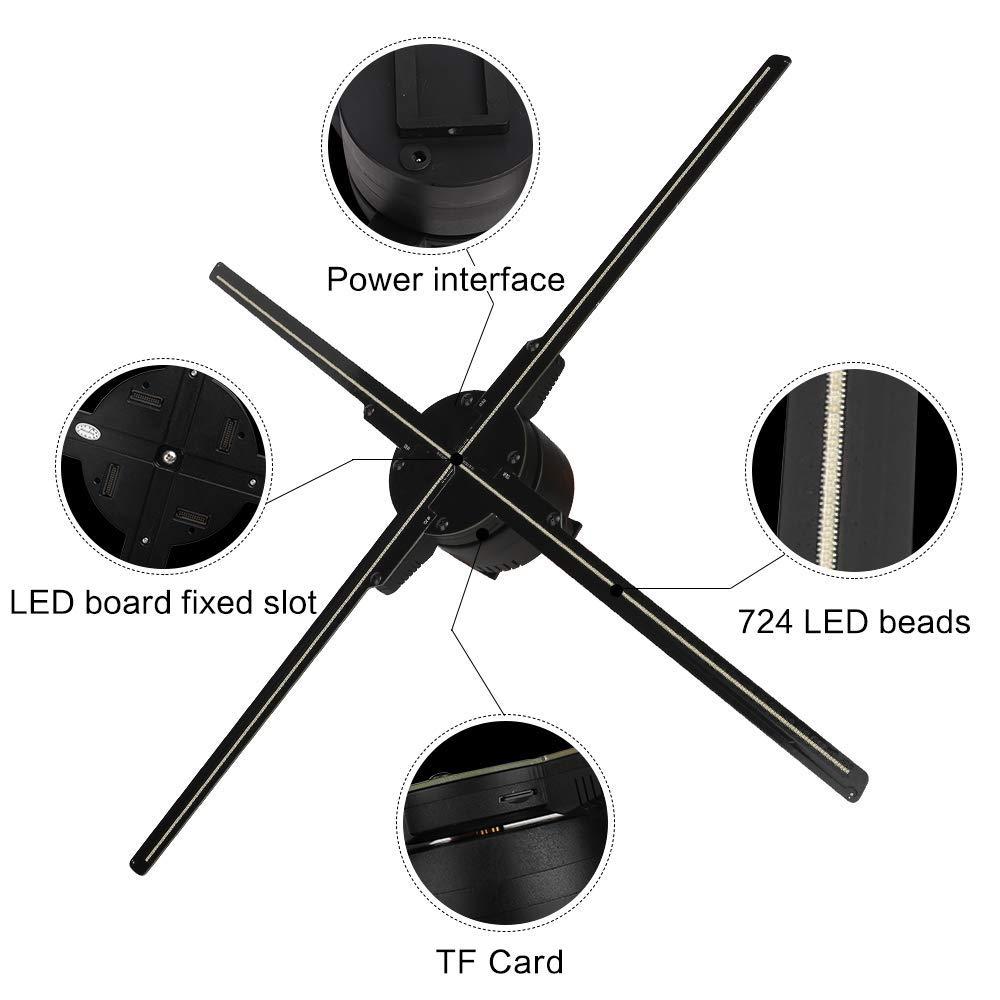 Ventilateur de projecteur d'hologramme de 65CM WIFI 3D Z3, projecteur vidéo de conception de quatre axes, lumière holographique de publicité d'affichage de LED, contrôle d'app - 2