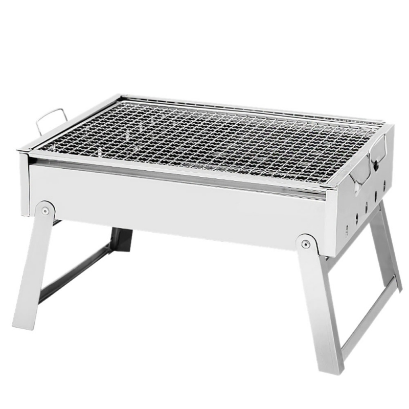 Outdoor Barbecue Stove Stainless Steel Barbecue Rack Portable Outdoor Charcoal Barbecue Home Oven Set Cooking Picnic BBQ Camping portable outdoor camping bbq grills stainless steel folding barbecue grill rack durable family charbroiler oven