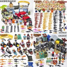 Fit legoings military weapon guns PUBG FPS Game Unknown's Battlegrounds Model Soldier Army SWAT MOC Building Blocks Boys toys стоимость
