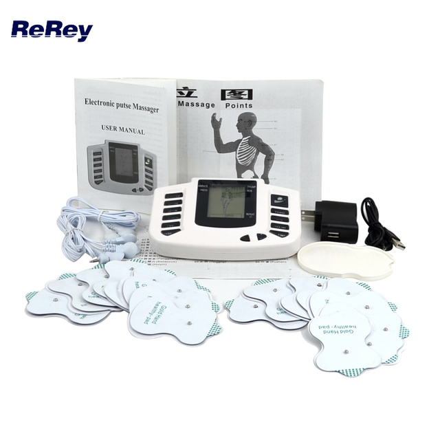 EMS ממריץ שרירים חשמליים טיפול לעיסוי דופק עשרות דיקור גוף מלא עיסוי להירגע טיפול 16 רפידות