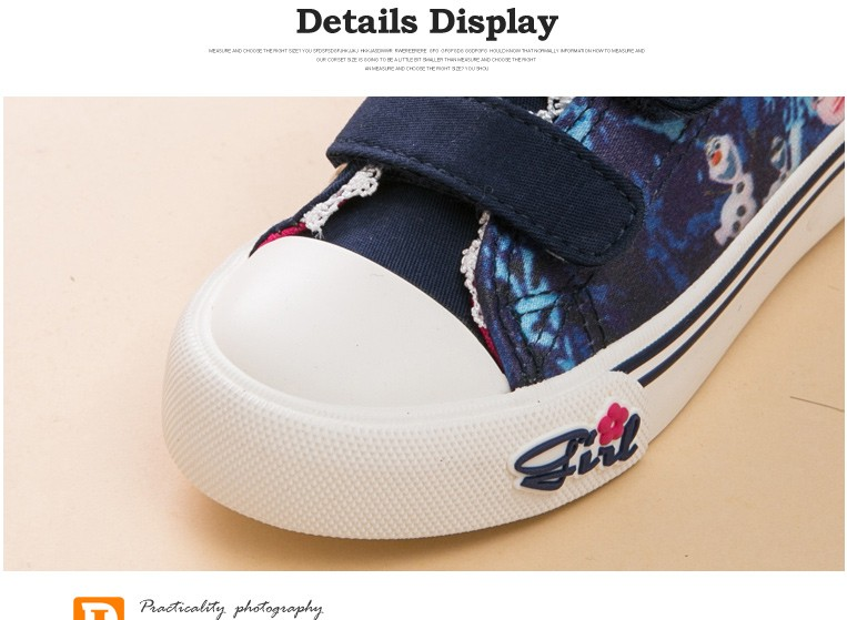 Princess Girls Shoes For Kids Fashion Elsa Anna Kids Shoes 2017 Ice Snow Queen Casual Denim Canvas Children Shoe Girl Sneakers 520 (12)
