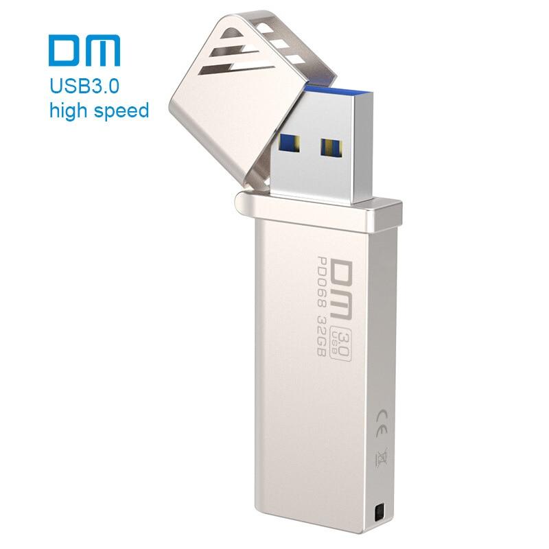 Envío libre DM pd068 nuevo 16 GB 32 GB 64 GB 128 GB 256 GB Unidades Flash USB metal USB 3.0 alta velocidad de escritura de 10 MB/s-60mb/s