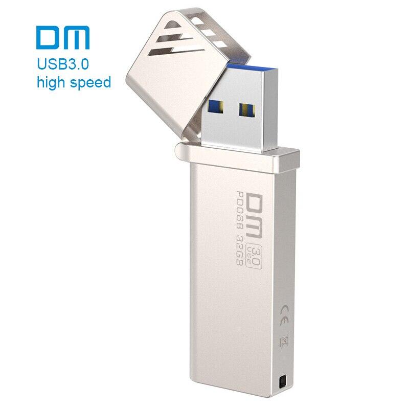 Livraison gratuite DM PD068 NOUVEAU 16 GB 32 GB 64 GB 128 GB 256 GB USB Flash Drives Métal USB 3.0 Haute-vitesse écrire de 10 mb/s-60mb/s