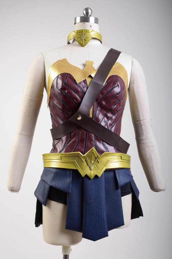 Batman v Superman Dawn of Justice League Wonder Woman Diana Cosplay Costume Shoes Halloween Carnival Adult Women Headwear Belt