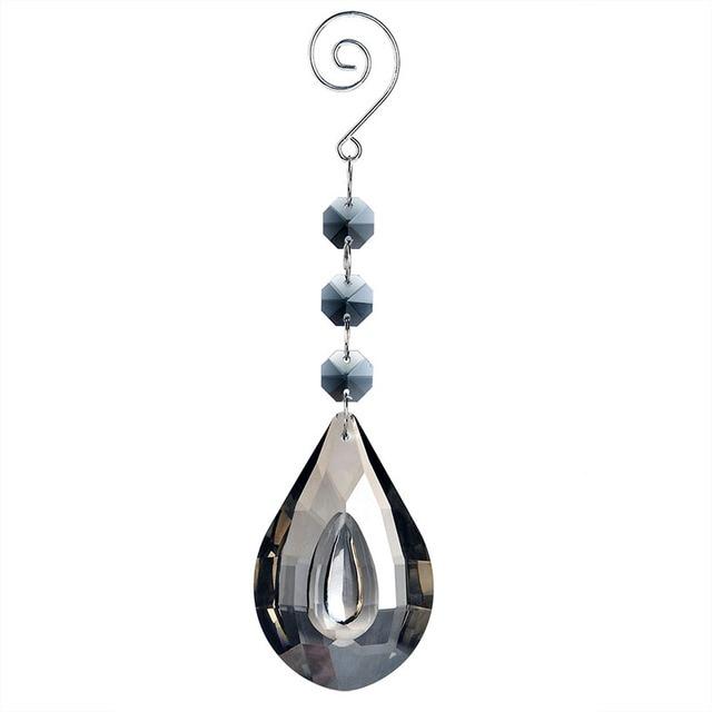 Loquat shape gray pendant for chandelier crystal prisms parts 76mm loquat shape gray pendant for chandelier crystal prisms parts 76mm lamp hanging ornament wedding decor accessories aloadofball Choice Image