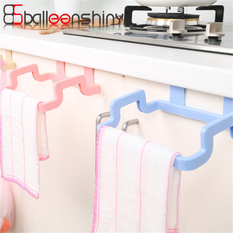 1pcs Hanging Garbage Bag Storage Rack Kitchen Organizer