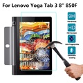 YUNAI 9H Tempered Glass Screen Protector Transparent Film For Lenovo Yoga Tab 3 850F New Tablets Screen Protector Film 8 inch