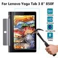 Yunai 9 h vidrio templado film protector de pantalla transparente para lenovo yoga tab 3 850f nuevas tabletas de pantalla protector de la película 8 pulgadas