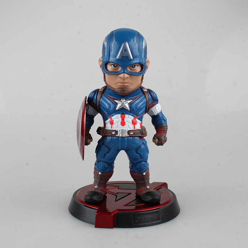 Egg Attack Marvel Super Hero Avengers Captain America PVC Action Figures Collectible Toys Doll 20CM saintgi captain america avengers action figures change hand hot toys super hero marvel iron man marvel s 12 model toys gifts