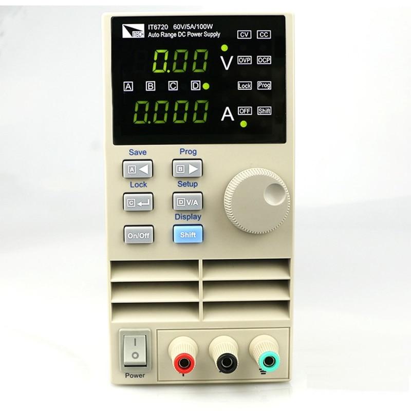 IT6721 high precision Adjustable Digital DC Power Supply 10mV/1mA 60V/8A for scientific research service Laboratory