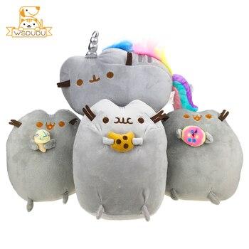 脂肪猫漫画ぬいぐるみぬいぐるみかわいい動物子猫クッキーアイスクリームドーナツかわいい装飾ソフト枕ぽっちゃりステッカー
