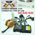 CANBUS! S350 60 W 6400LM H1 H3 H7 H9 H11 9005 9006 LED BULBO HI/LO de CONVERSIÓN DRL FAROS Antiniebla kit luz de la cabeza Del Coche de aparcamiento