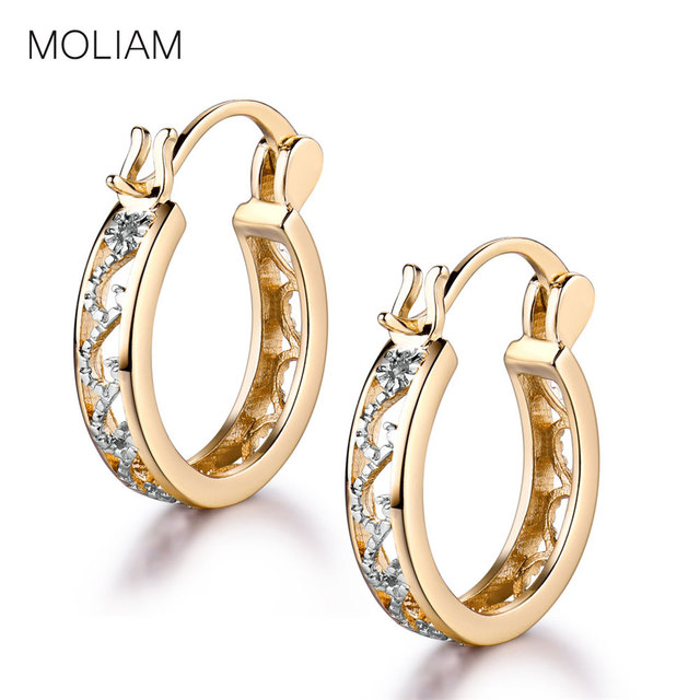 MOLIAM Small Earrings 2017 Fashion Classic Hollow Out Hoop Earring For Women High Quality Brinco Earings Ladies Jewellery MLE400