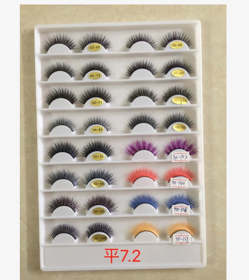 10 Pairs Of 5D Multiple Styles Eyelashes Cross False Eyelashes Eyelashes Eyelashes Makeup Eyelashes Retractable Reuse Eyelashes