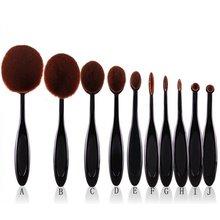 Hot 10pcs Pro Toothbrush Makeup Brush Oval Brush Set Multipurpose Makeup Brushes Set Super Nice Toothbrush Makeup Brush 5035