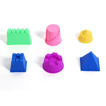 6Pcs Model Kits Sand Clay Mold Plasticine Kids Beach Park Sand Castle Toy Set Dough Molds Random Color Kids Baby Training Toys(China)