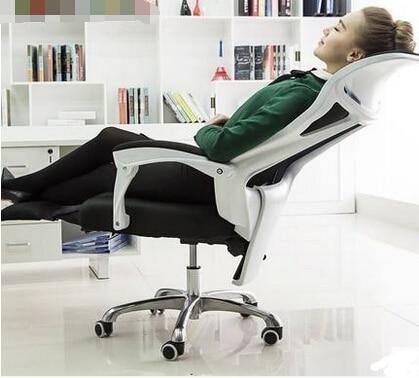 Bureaustoel Met Voetsteun.Home Office Stoelen Ergonomische Mesh Stoelen Turn De Voetsteun