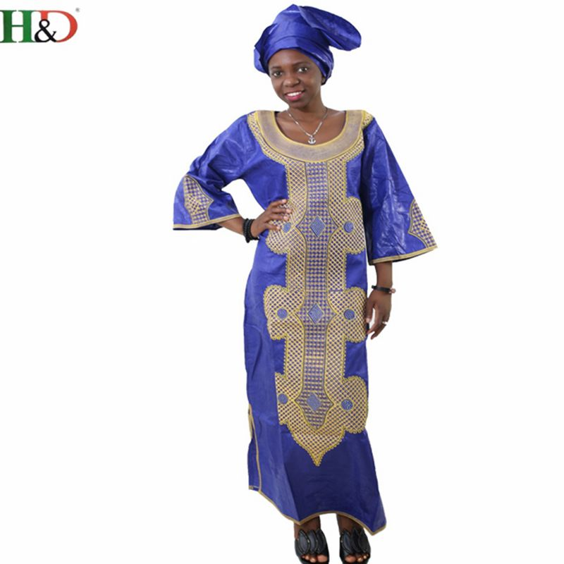 Ücretsiz kargo Afrika geleneksel bazin riche kadın pamuk işlemeli - Ulusal Kıyafetler - Fotoğraf 2