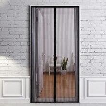 210X100 см без рук Магнитная летняя противомоскитная завеса s шифрование москитная сетка на дверных магнитах занавес двери
