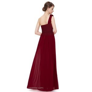 Image 5 - Plusขนาดเจ้าสาวสีม่วงชุดยาว 2020 Elegant Burgundyชีฟองไหล่งานแต่งงานชุดเดรสสำหรับผู้หญิง