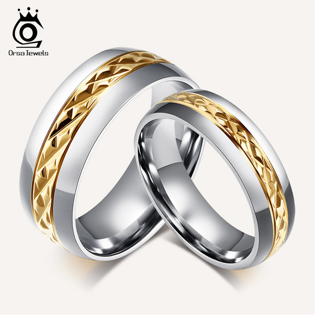 Orsa Jewels Fashion Lead Nickel Free Stainless Steel Rings Set Jewelry Ring For Men