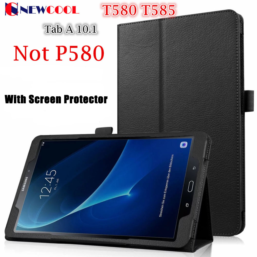 Magnet Flip Cover For Samsung Galaxy Tab A A6 10.1 2016 T580 T585 T580N SM-T580 Tablet case Litchi Pattern PU Leather Case LZW все цены