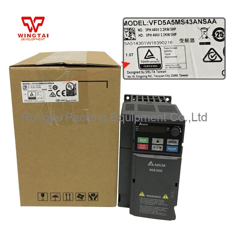 Delta VFD5A5MS43ANSAA Three Phase Frequency Converter 380V 3PH delta vfd5a5ms43ansaa three phase frequency converter 380v 3ph