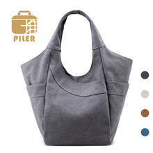 2017 Famous Designer Handbags Women Canvas High Quality Female Casual Solid Shoulder Bags for Ladies